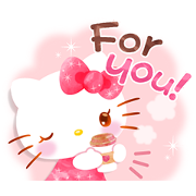 Hello Kitty's Wonderful Watercolor Sticker for LINE & WhatsApp | ZIP: GIF & PNG