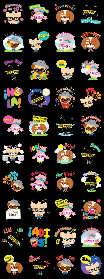 HipsDog: Cool Line Sticker GIF & PNG Pack: Animated & Transparent No Background | WhatsApp Sticker