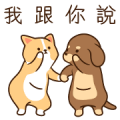 Hurrybow Busywow overreaction stickers Sticker for LINE & WhatsApp | ZIP: GIF & PNG