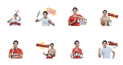 Jojo si Jagoan Badminton Line Sticker GIF & PNG Pack: Animated & Transparent No Background | WhatsApp Sticker