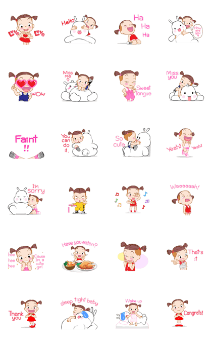 Jumbooka 4 Line Sticker GIF & PNG Pack: Animated & Transparent No Background | WhatsApp Sticker
