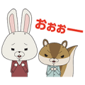 KAMI USAGI ROPÉ Animated Stickers Sticker for LINE & WhatsApp | ZIP: GIF & PNG