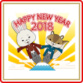 KAMI USAGI ROPÉ New Year's Gift Stickers (2018)