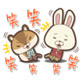 KAMI USAGI ROPÉ Voiced Mini Characters Sticker for LINE & WhatsApp | ZIP: GIF & PNG
