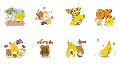 Krungsri Is Here for You Line Sticker GIF & PNG Pack: Animated & Transparent No Background | WhatsApp Sticker