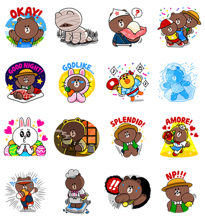 LINE BROWN FARM: Happy Spring Day! Line Sticker GIF & PNG Pack: Animated & Transparent No Background | WhatsApp Sticker