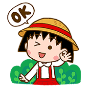 LINE BROWN FARM with Chibi Maruko-chan Sticker for LINE & WhatsApp | ZIP: GIF & PNG