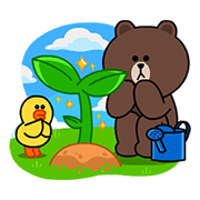 LINE Brown Farm Sticker for LINE & WhatsApp | ZIP: GIF & PNG