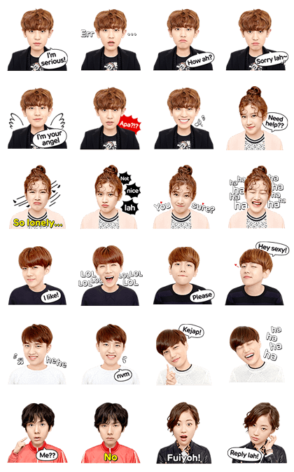 LINE Drama: EXO Next Door Special I Line Sticker GIF & PNG Pack: Animated & Transparent No Background | WhatsApp Sticker