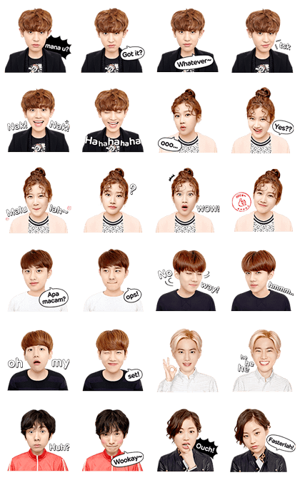 LINE Drama: EXO Next Door Special II Line Sticker GIF & PNG Pack: Animated & Transparent No Background | WhatsApp Sticker
