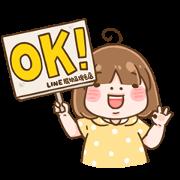 LINE Shopping × ShiaMi Sticker for LINE & WhatsApp | ZIP: GIF & PNG