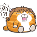 Lan Lan Cat Chubby Stickers Sticker for LINE & WhatsApp | ZIP: GIF & PNG