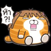 Lan Lan Cat Chubby Stickers Sticker for LINE & WhatsApp | ZIP: GIF & PNG