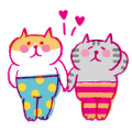 Lazy Nyansuke Chinese Ver. III:LOVE LOVE Sticker for LINE & WhatsApp | ZIP: GIF & PNG