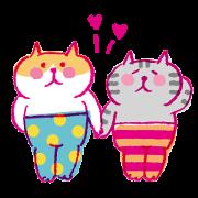 Lazy Nyansuke Chinese Ver. III:LOVE LOVE Sticker for LINE & WhatsApp | ZIP: GIF & PNG