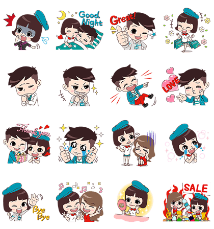 Look Good, Feel Great Line Sticker GIF & PNG Pack: Animated & Transparent No Background | WhatsApp Sticker