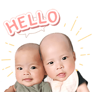 MikaMia The Twins Sticker for LINE & WhatsApp | ZIP: GIF & PNG