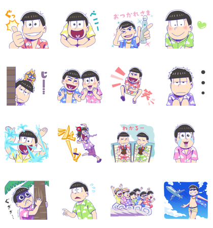 Mr. Osomatsu × LINE TRAVEL jp Line Sticker GIF & PNG Pack: Animated & Transparent No Background | WhatsApp Sticker
