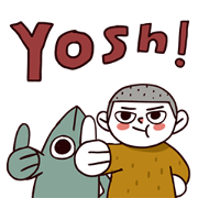 My Best Friend Fish Man Sticker for LINE & WhatsApp | ZIP: GIF & PNG