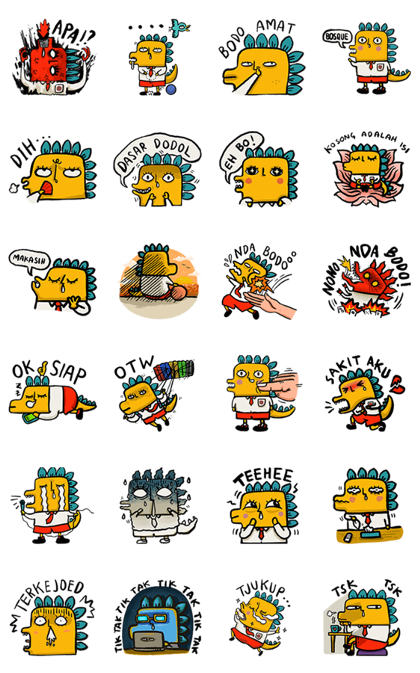 NONO NDA BODO Line Sticker GIF & PNG Pack: Animated & Transparent No Background | WhatsApp Sticker