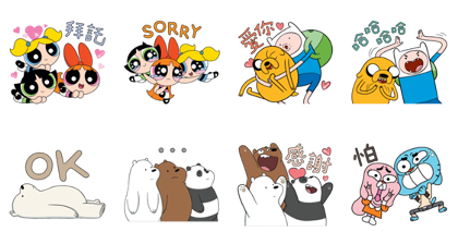 OTT Entertainment × Cartoon Network Line Sticker GIF & PNG Pack: Animated & Transparent No Background | WhatsApp Sticker