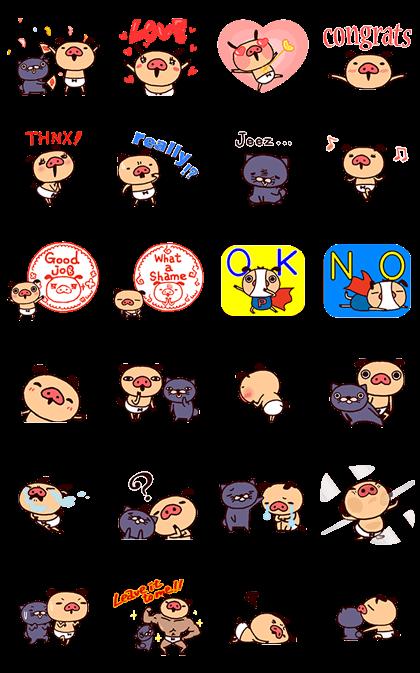 PANPAKA PANTS - Animated Stickers2 Line Sticker GIF & PNG Pack: Animated & Transparent No Background | WhatsApp Sticker