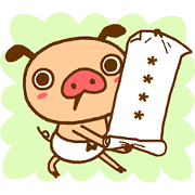 PANPAKA PANTS Custom Stickers Sticker for LINE & WhatsApp | ZIP: GIF & PNG