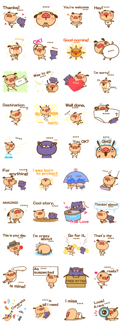 PANPAKA PANTS Custom Stickers Line Sticker GIF & PNG Pack: Animated & Transparent No Background | WhatsApp Sticker
