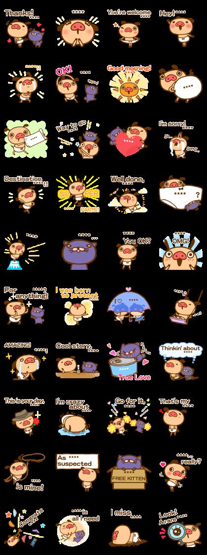 PANPAKA PANTS Custom Stickers Line Sticker GIF & PNG Pack: Animated & Transparent No Background | WhatsApp Sticker