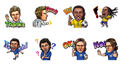 PES CARD COLLECTION Line Sticker GIF & PNG Pack: Animated & Transparent No Background | WhatsApp Sticker