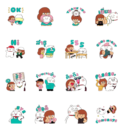 Peep-Chan × Mamuang: Sparkling Love Line Sticker GIF & PNG Pack: Animated & Transparent No Background | WhatsApp Sticker