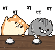 Plump Dog & Plump Cat Animated Stickers Sticker for LINE & WhatsApp | ZIP: GIF & PNG