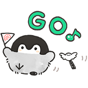 Positive Penguins × SHOPPING GO Sticker for LINE & WhatsApp | ZIP: GIF & PNG