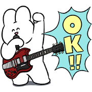 Rabbit Rock × LINE Score Sticker for LINE & WhatsApp | ZIP: GIF & PNG