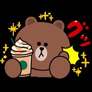 STARBUCKS×BROWN&FRIENDS Sticker for LINE & WhatsApp   ZIP: GIF & PNG