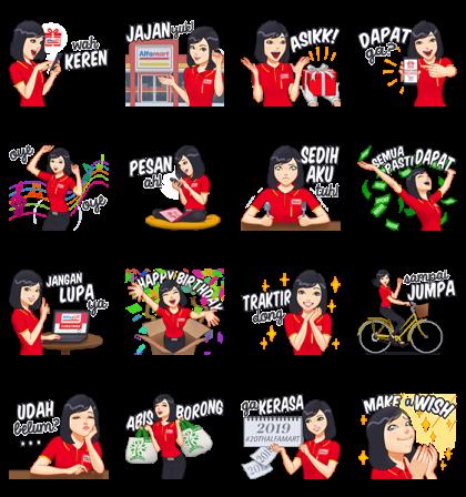 Shalma - Sahabatnya konsumen Alfamart Line Sticker GIF & PNG Pack: Animated & Transparent No Background | WhatsApp Sticker