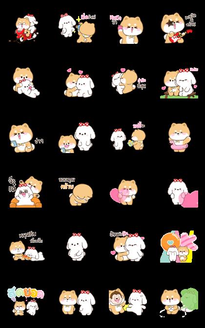Shibung & Bingsu Animated Line Sticker GIF & PNG Pack: Animated & Transparent No Background | WhatsApp Sticker
