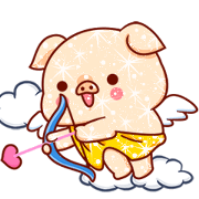 Shine Pig: Shine Your Chat 3 Sticker for LINE & WhatsApp | ZIP: GIF & PNG