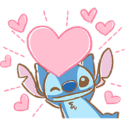 Stitch: Easygoing Politeness Sticker for LINE & WhatsApp | ZIP: GIF & PNG
