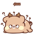 SweetHouse Fawn Custom Stickers Sticker for LINE & WhatsApp | ZIP: GIF & PNG