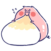 Tiny Piggy's Happy Days Sticker for LINE & WhatsApp   ZIP: GIF & PNG