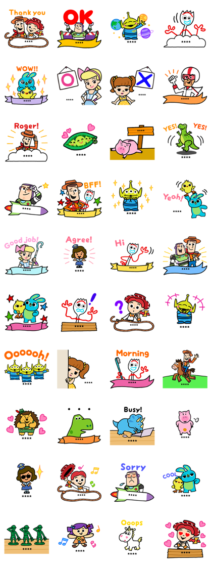 Toy Story 4 Custom Stickers Line Sticker GIF & PNG Pack: Animated & Transparent No Background | WhatsApp Sticker