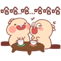 Tuto the Unlucky Beaver Sticker for LINE & WhatsApp | ZIP: GIF & PNG