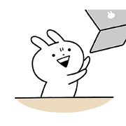 Usagyuuun! Overreaction stickers Sticker for LINE & WhatsApp | ZIP: GIF & PNG