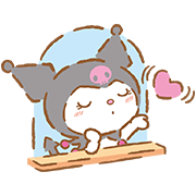 We Love Kuromi Sticker for LINE & WhatsApp | ZIP: GIF & PNG