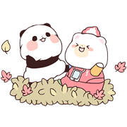 YURURINPANDA×KUMAHON Sticker for LINE & WhatsApp | ZIP: GIF & PNG