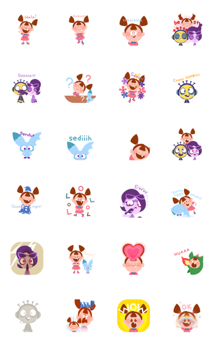 ZOMBIEDUMB: Daily Cuteness Line Sticker GIF & PNG Pack: Animated & Transparent No Background | WhatsApp Sticker