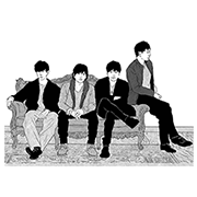 flumpool MUSIC Stickers 2 Sticker for LINE & WhatsApp | ZIP: GIF & PNG