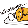 gudetama in Space Sticker for LINE & WhatsApp | ZIP: GIF & PNG