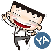 i'm mark (ups and downs in the office) Sticker for LINE & WhatsApp | ZIP: GIF & PNG